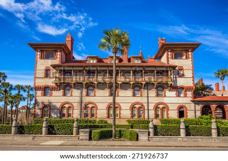 Historic Flagler College in St. Augustine, Florida, USA. It is  a private four-year liberal arts college founded in 1968. - stock photo