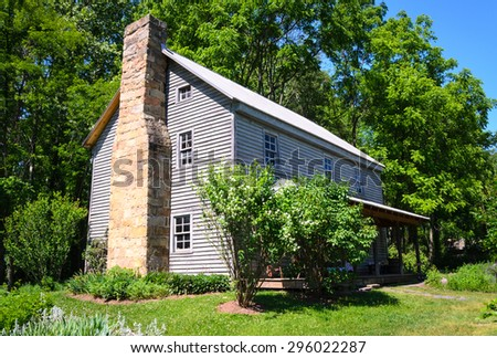 Historic House at High Allegheny - stock photo