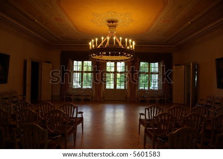 Historic interior wall with a smooth view - stock photo