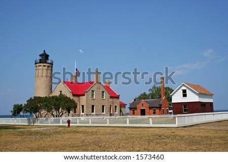 Historic Light house - stock photo