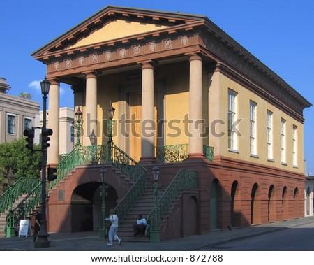 Historic Market Hall in Charleston, South Carolina, built 1841 - stock photo
