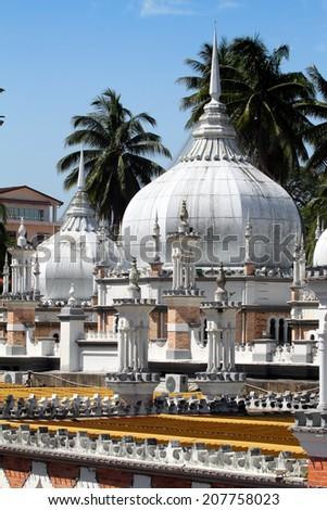 Historic mosque, Masjid Jamek at Kuala Lumpur, Malaysia   - stock photo