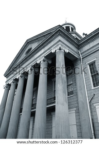 Historic Old capital museum in downtown Jackson Mississppi - stock photo