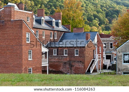 Historic old town Harper's Ferry WV - stock photo