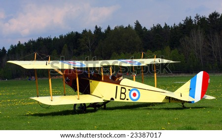 Historic plane Curtiss JN-4 - stock photo
