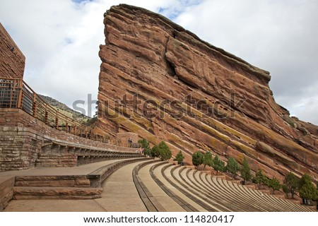 Historic Red Rocks Amphitheater near Denver, Colorado - stock photo