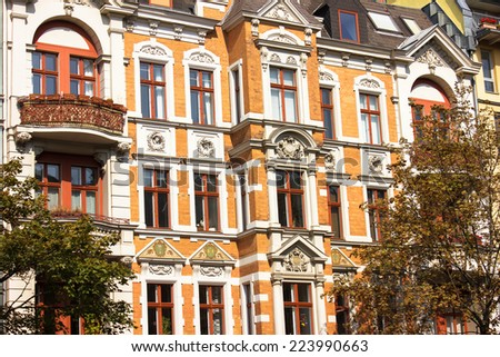 Historic Residential House in Berlin - stock photo