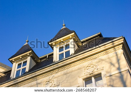 Historic Residential Houses in Berlin in Vintage Style - stock photo