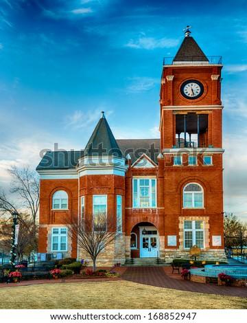 Historic small town court house building in Dallas, GA - stock photo