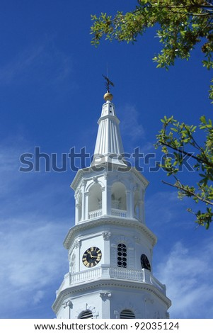 Historic St. Michael's Church in Charleston, South Carolina - stock photo