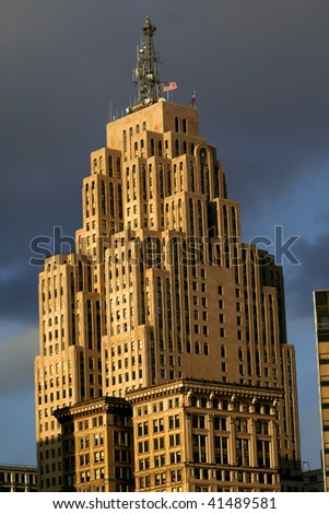 Historic tall building - stock photo