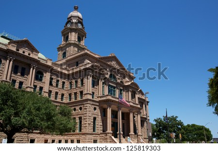 Historic Tarrant County Courthouse, Fort Worth, Texas - stock photo