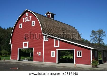 Historic Tolt Barn at Carnation, Washington USA - stock photo