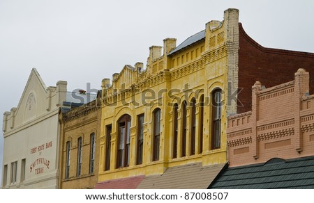 Historic town of Smithville, Texas. - stock photo