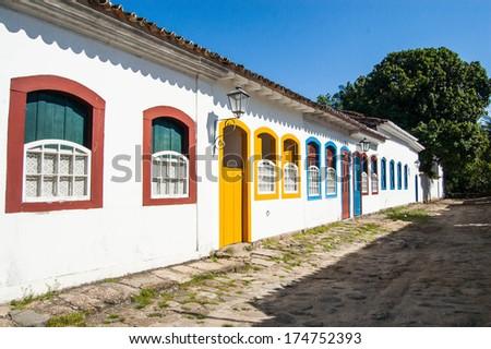 Historic village of Paraty, Brazil - stock photo