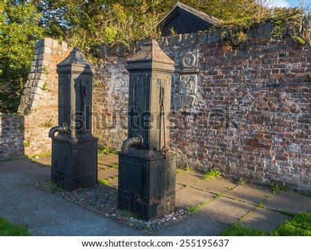 Historic water pumps - stock photo