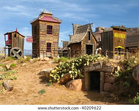 Historic wild west town. Open air museum. Springville. Utah. USA - stock photo