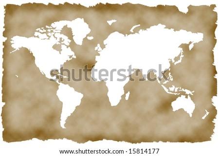 Historic World Map high quality - stock photo