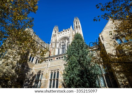 Historical building in downtown New Haven CT, USA - stock photo