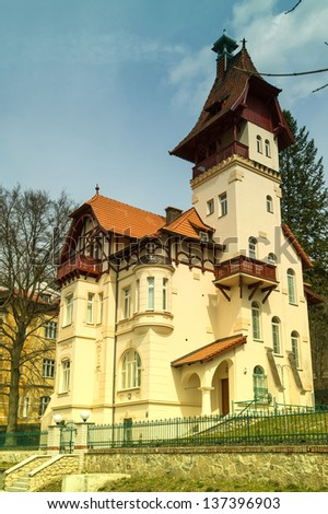 historical building in Marienbad in the Czech Republic - stock photo