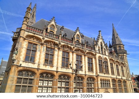Historical building of the old Post Office, Ghent, Belgium - stock photo