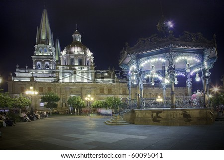 Historical church in Guadalajara, Jalisco, Mexico - stock photo