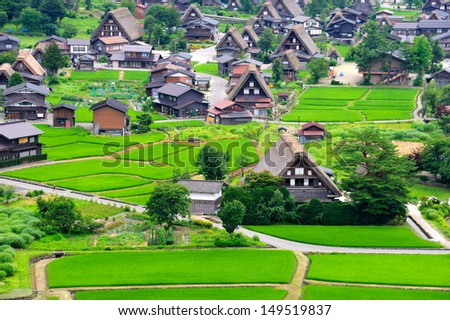 Historical Japanese Village - Shirakawago - stock photo