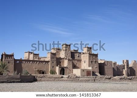 Historical kasbah Amridil, Morocco. - stock photo