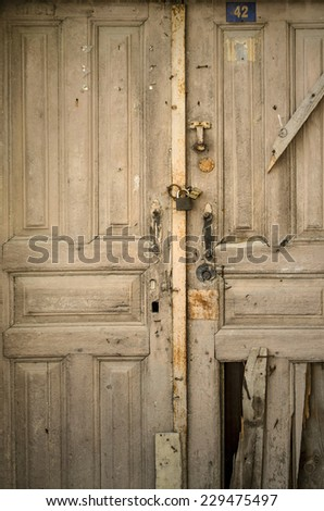 Historical Old Gate - stock photo