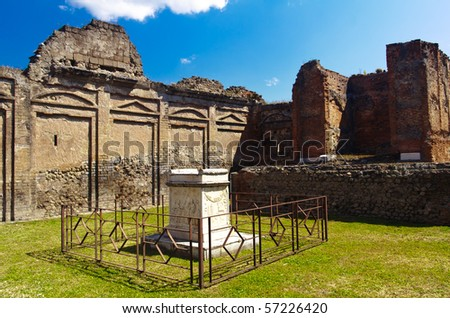 historical ruined building in Pompei, Italy - stock photo