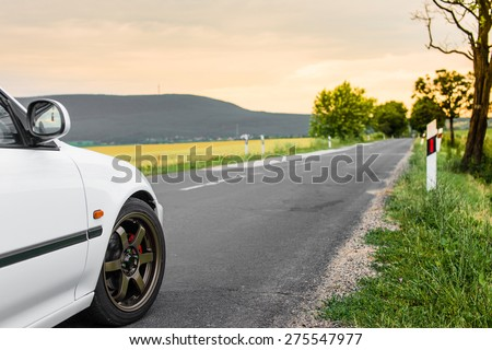 Hit the road - stock photo
