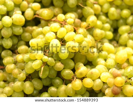 Hite wine grapes in a market - stock photo