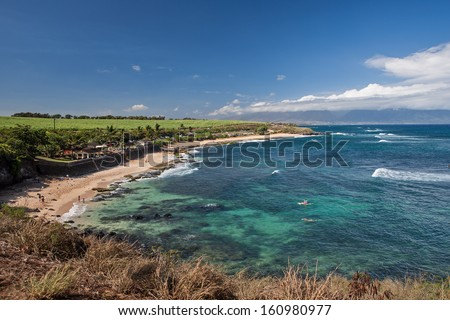 Ho'okipa Lookout in Maui - stock photo