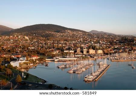 Hobart Harbour Tasmania Australia - stock photo