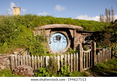 Hobbit House - Matamata - New Zealand - stock photo