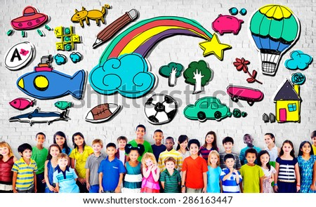 Hobby Imagination Fun Creativity Activity Inspiration Concept - stock photo
