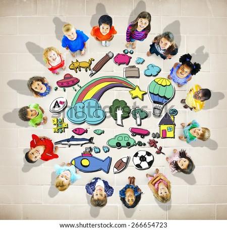 Hobby Immagination Fun Creativity Activity Inspiration Concept - stock photo