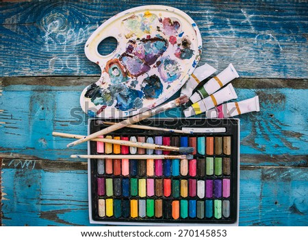 hobby,paint,love - stock photo