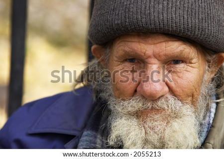 Hobo(focus point on the eyes,special photo f/x) - stock photo