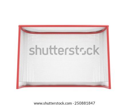 Hockey gates isolated on white background. 3d illustration. - stock photo