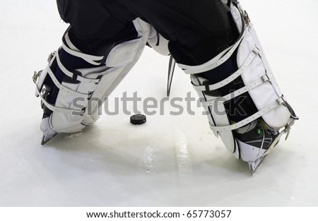 hockey player - stock photo