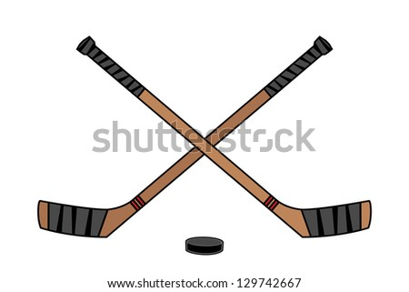 Hockey Sticks - stock photo