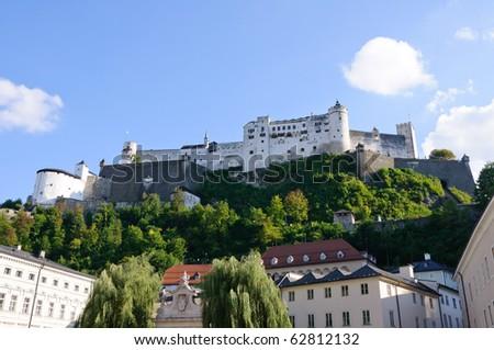 Hohensalzburg Castle - Salzburg, Austria - stock photo