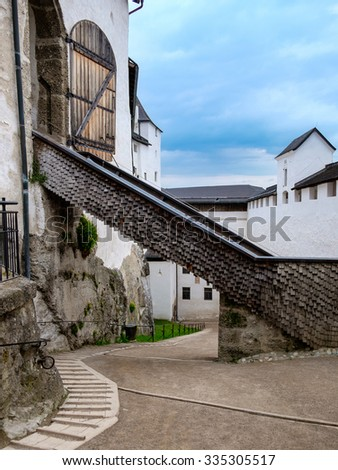 Hohensalzburg fortress, Salzburg, Austria. - stock photo