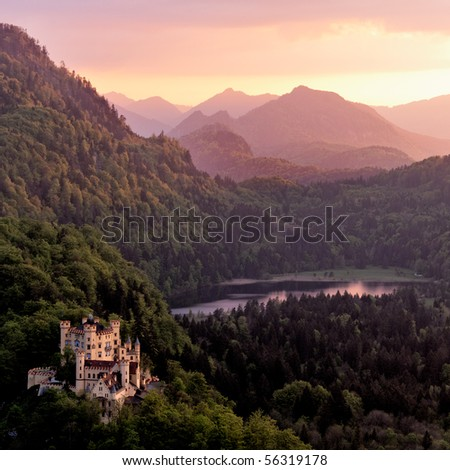 Hohenschwangau Castle, Bavaria, Germany. - stock photo