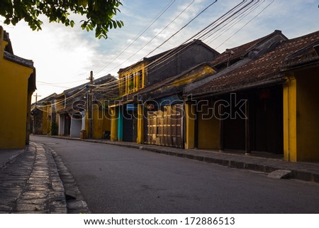 Hoi An, Vietnam is a World Heritage Site by UNESCO.  - stock photo