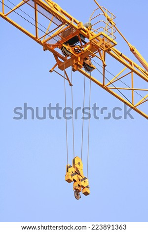 Hoist trolley Mechanism of Tower Crane - stock photo