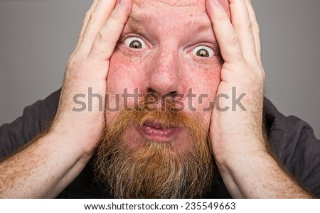 holding breath - stock photo