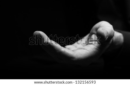 Holding out a helping hand - stock photo