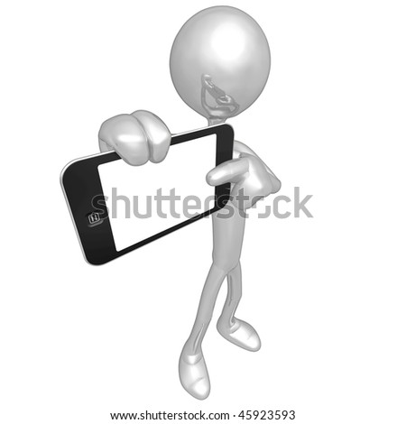 Holding Touch Screen Device - stock photo